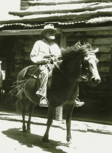 Harry Smith mounted on his horse.